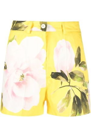 VALENTINO Rose print tailored shorts