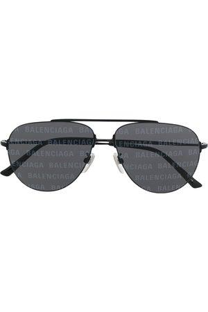 Balenciaga Sonnenbrillen - Getönte Pilotenbrille mit Logo-Print