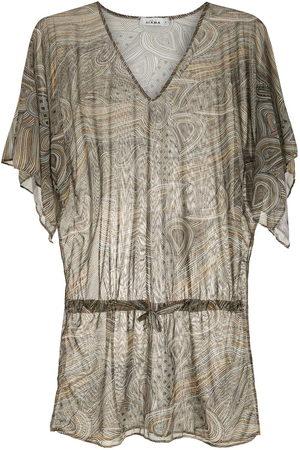 AMIR SLAMA Damen Bedruckte Kleider - Strandkleid mit Print - Mehrfarbig