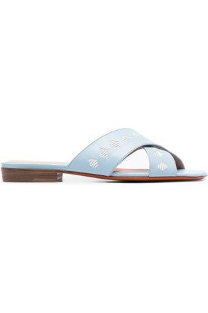 santoni Damen Sandalen - Sandalen mit überkreuzten Riemen