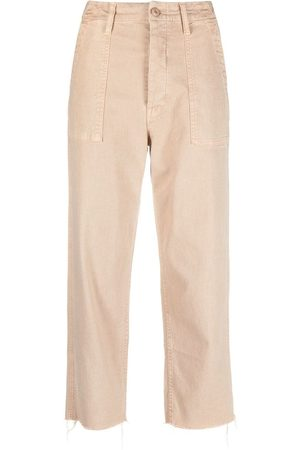 Mother Damen Chinos - Cropped-Chino - Nude