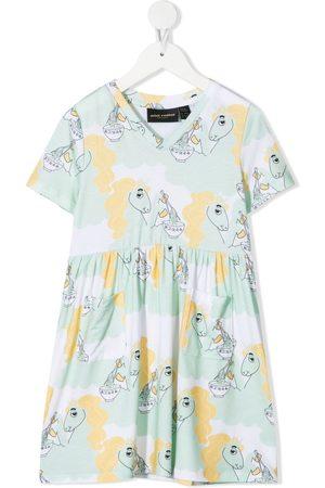 Mini Rodini Mädchen Freizeitkleider - Kleid mit Unicorn Noodles-Print