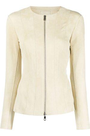 DESA 1972 Damen Lederjacken - Jacke mit Reißverschluss - Nude