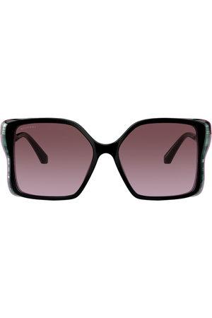 Bvlgari Sonnenbrille mit Oversized-Gestell
