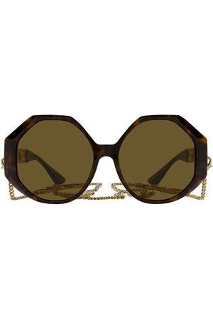 VERSACE Sonnenbrille mit geometrischem Gestell