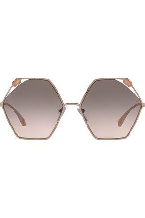 Bvlgari Oversized hexagon frame sunglasses