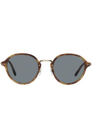 Armani Herren Sonnenbrillen - Runde Sonnenbrille in Schildpattoptik