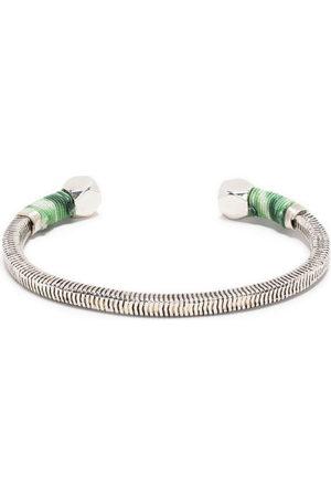 Gas Bijoux Herren Armbänder - Geriffelte Sari Armspange mit Ziergarn