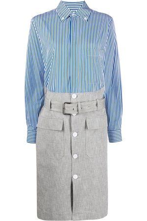Plan C Damen Freizeitkleider - Stripe belted shirtdress
