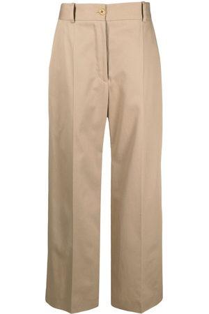 Patou Damen Stoffhosen - Hose mit weitem Bein - Nude