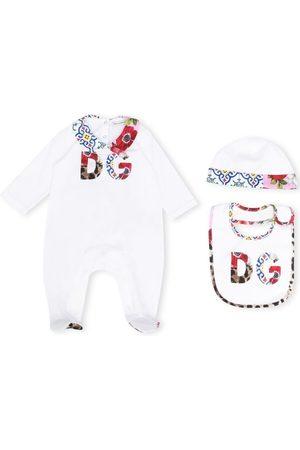 Dolce & Gabbana Schlafanzüge - Pyjama mit geblümtem Logo