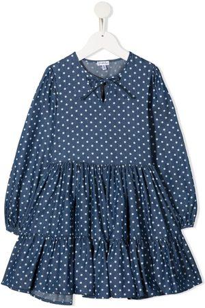 Piccola Ludo Gerüschtes Kleid mit Polka Dots