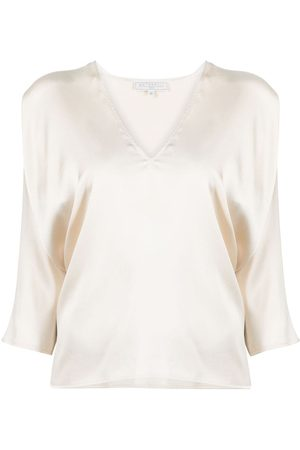 ANTONELLI Bluse mit Cropped-Ärmeln - Nude