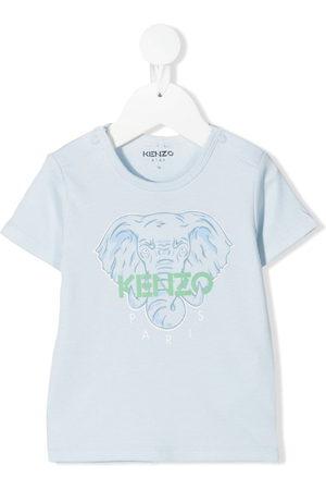 Kenzo Shirts - T-Shirt mit Elefanten-Print