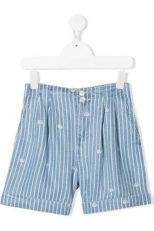 Gucci Jeans-Shorts mit Nadelstreifen