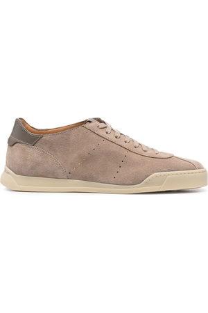 santoni Herren Sneakers - Sneakers aus Wildleder - Nude