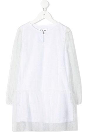 DOUUOD KIDS Mädchen Freizeitkleider - Kleid mit semi-transparentem Layer