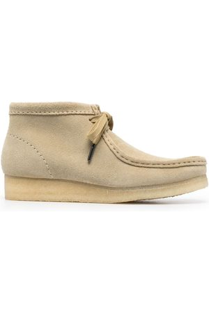 Clarks Suede lace-up boots - Nude