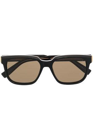 Dunhill Rectangle-frame sunglasses - 001 BLACK BLACK BROWN
