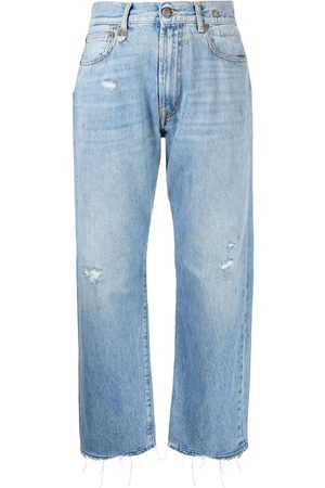 R13 Cropped-Jeans im Distressed-Look