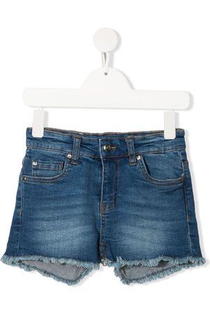 John Richmond Junior Mädchen Shorts - Jeans-Shorts mit Logo-Print