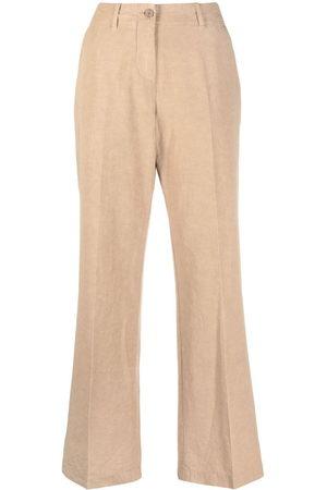 Aspesi Mid-rise wide-leg trousers - Nude