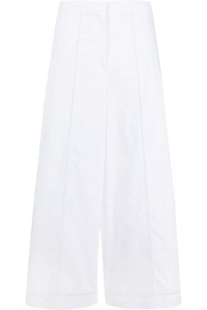 THEORY Damen Weite Hosen - Embroidered wide-leg cropped trousers