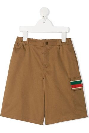 Gucci Mädchen Shorts - Shorts mit Logo-Streifen