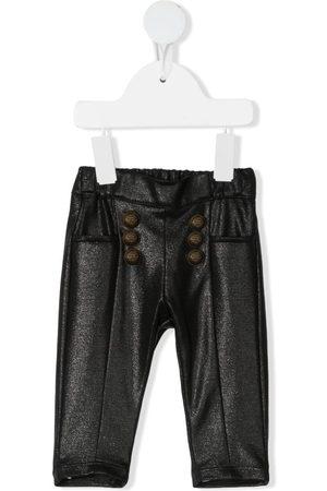 Balmain Metallic-Hose mit elastischem Bund