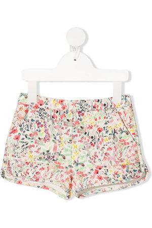 BONPOINT Shorts mit Blumen-Print - Nude