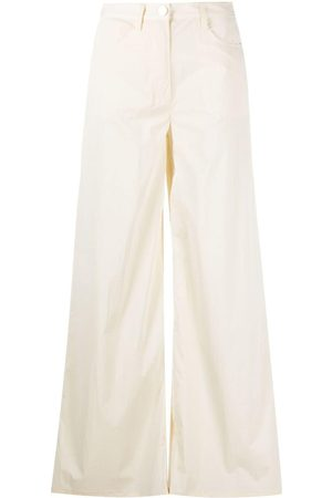 REMAIN High-rise wide-leg jeans - Nude