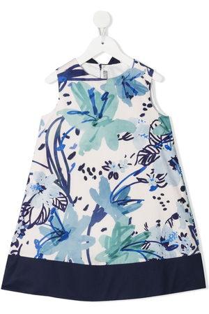 Il gufo Mädchen Freizeitkleider - Kleid mit Blumen-Print