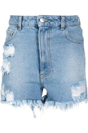 GCDS Damen Shorts - Ripped denim shrots
