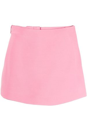 VALENTINO Crepe Couture wrap-front skort