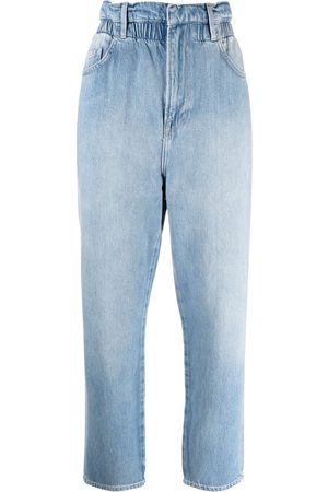 Frame Damen Tapered - Tapered-Jeans mit Paperbag-Taille