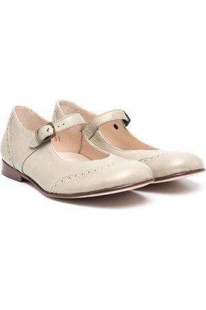 PèPè Buckle-fastening leather ballerinas