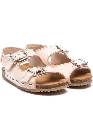 PèPè Mädchen Sandalen - Buckle-fastening leather sandals - Nude