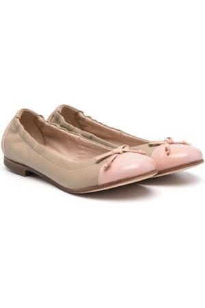 PèPè Mädchen Ballerinas - Bow-detail ballerina shoes - Nude