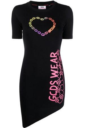 GCDS Damen Freizeitkleider - T-Shirtkleid mit Logo-Print