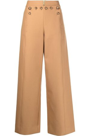 Burberry Weite Hose mit Knopfdetail - Nude