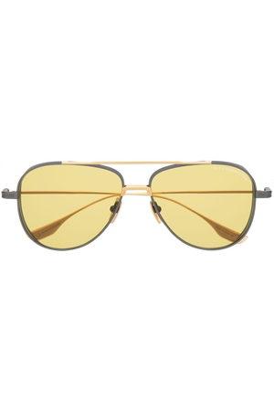 DITA EYEWEAR Herren Sonnenbrillen - Aviator sunglasses - BLK/ GLD BLACK IRON YELLOW W/ GOLDEN AMBER
