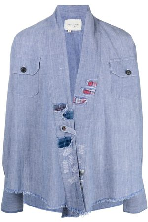 GREG LAUREN Raw-edge denim jacket
