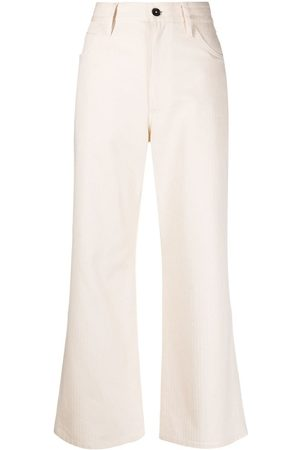 Jil Sander High-waisted bootcut jeans - Nude