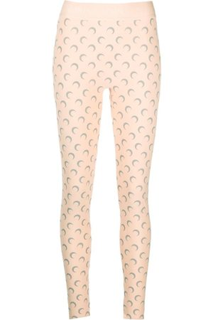 Marine Serre Damen Leggings & Treggings - Logo print leggings