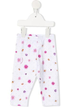 MONNALISA Baby Leggings & Treggings - Floral-print cotton trousers