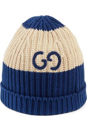 Gucci GG embroidered knitted beanie