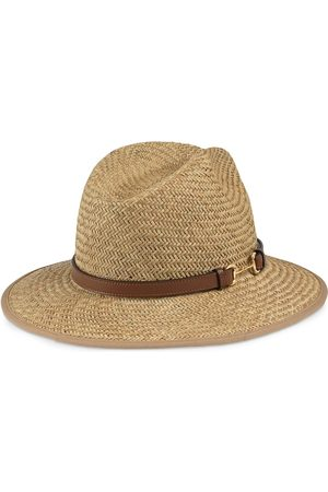 Gucci Horsebit detail straw hat - Nude