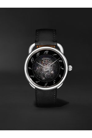 Hermès Herren Uhren - Arceau Squelette Automatic 40mm Stainless Steel and Leather Watch, Ref. No. 055631WW00
