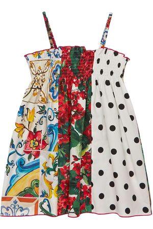 Dolce & Gabbana Mädchen Kleider - Kleid Aus Baumwollpopeline Mit Druck