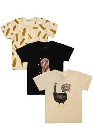 YELLOWSUB Set: 3 T-shirts Aus Baumwolljersey